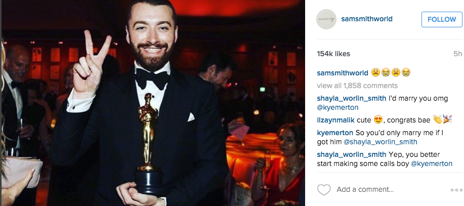 sam smith oscar